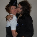 Russell Brand and Sara Colohan at The Tassel Club